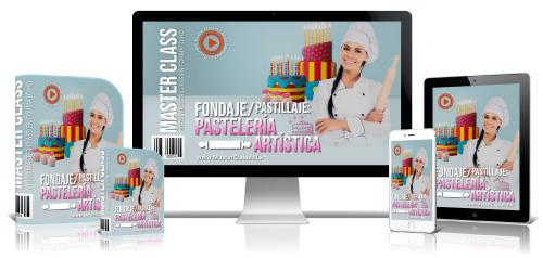 Pastelería Artística Fondaje y Pastillaje Curso Online