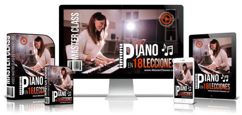 Aprende Piano en 18 Lecciones Curso Online
