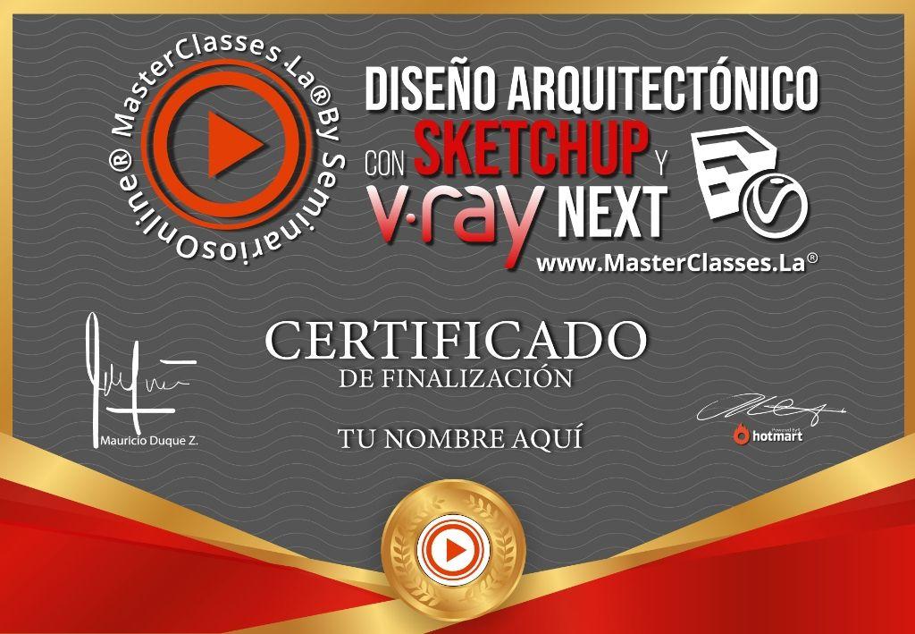 Diseño Arquitectónico con Sketchup y V-Ray Next