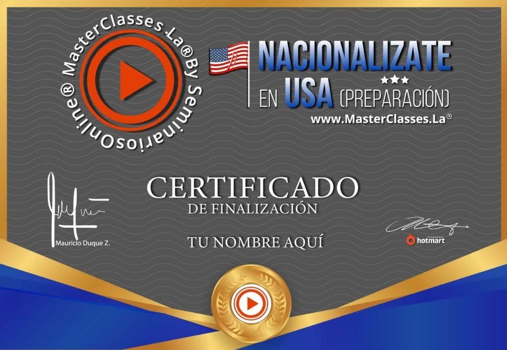 Como Nacionalizarse En Usa Curso Online Altohero Club Cursos Online